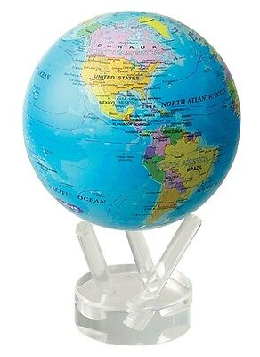 "MOVA Globe - Blue ocean political map - 11.5 cm 4.5"".- self rotating sphere"