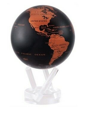 "MOVA Earth Globe - Copper and Black - 11.5 cm 4.5"" self rotating sphere"