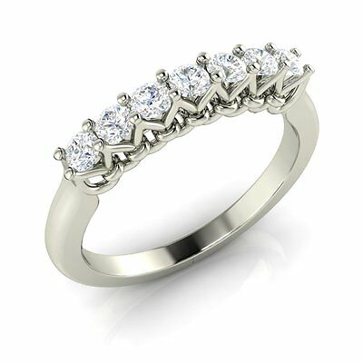 Engagement Anniversary Wedding Band Ring with Cubic Zirconia 925 Sterling Silver
