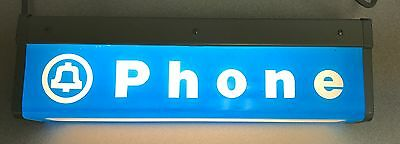 Vintage Western Electric Bell System Lighted Telephone Sign Two Sided Fixture