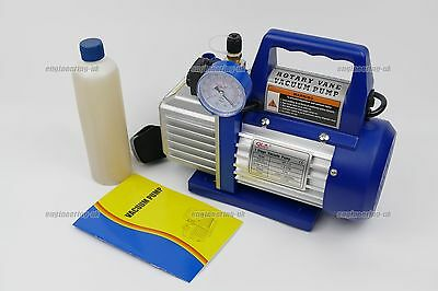 Refrigerant Rotary Vacuum Pump with solenoid and gauge R410a R134a