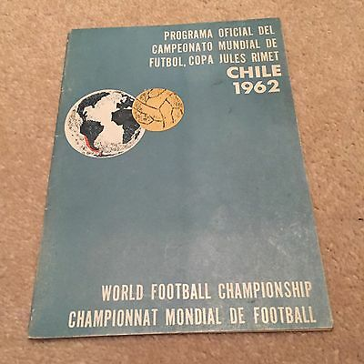 1962 World Cup Finals Programme Original In Very Good Condition