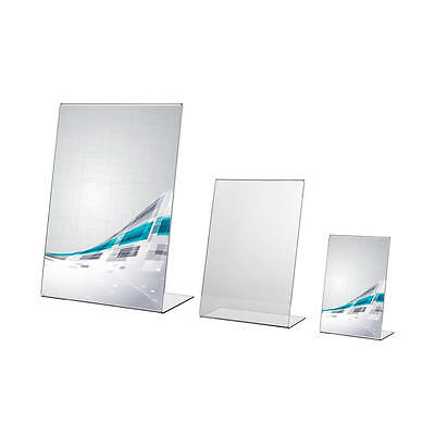 Acrylic Menu Holder Leaflet Perspex Poster Display Stands A4 A5 A6 A7 A8 A9