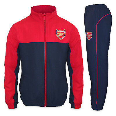 Arsenal FC Official Football Gift Boys Jacket & Pants Tracksuit Set