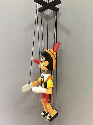 Pinocchio Puppet Wooden String Marionette Traditional Hand Crafted