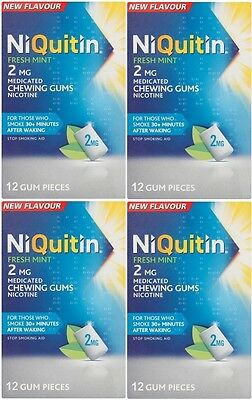NiQuitin Fresh Mint 2mg Nicotine Medicated Chewing Gums (48 Pieces) EXP 12/2016