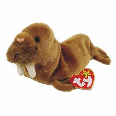 Ty Beanie Baby Paul the Walrus Retired DOB February 23rd 1999 soft toy