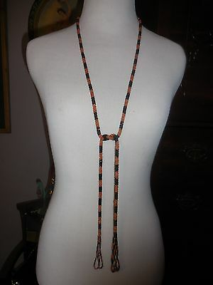 Gorgoues Antique Beaded Flapper Necklace with tassles