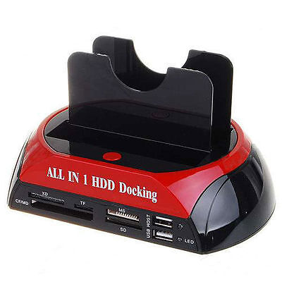 """DOCKING STATION ALL IN 1 Per HARD DISK SATA IDE 3,5"""" 2,5 LETTORE HDD BOX CASE"""