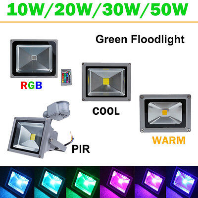 10W 20W 30W 50W LED Flood Light PIR Sensor RGB Classic Security Floodlights Lamp