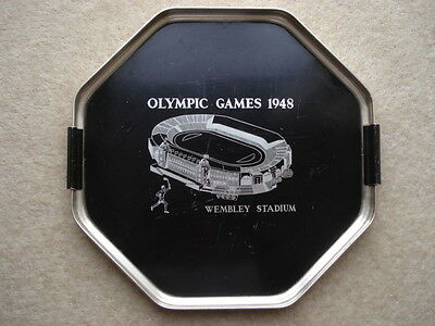 Scarce Olympic Games 1948 Wembley Stadium Souvenir Drinks Tray