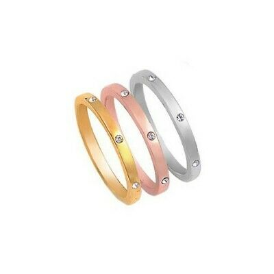 Sterling Silver Tri Color Band Gold Rose Gold Silver Ring Sizes 5 6 7 8 9 10