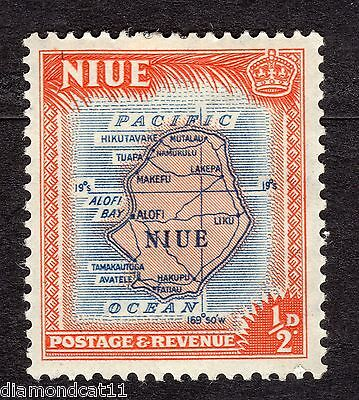 1950 Niue 0.5d Map of Niue Mounted Mint R16087