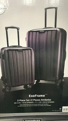 NEW Samsonite ExoFrame 2 pc Hardside Spinner Set- Gray