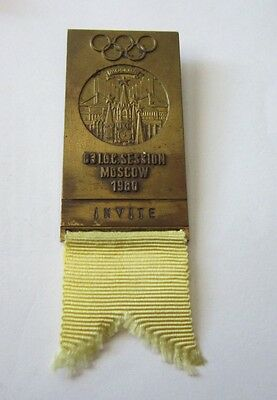 1980 MOSCOW Olympics 83th IOC session INVITE GUEST BADGE