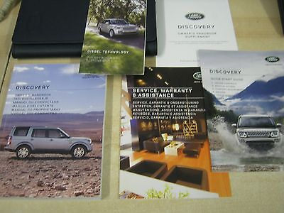 Land Rover Discovery 2014-2016 Owners Manual Handbook & Wallet  Covers Sat Nav
