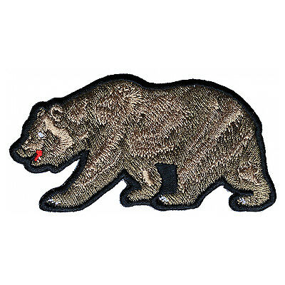 Embroidered California Brown Bear Sew or Iron on Patch Biker Patch
