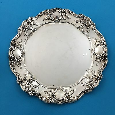 "Towle Old Master 11"" Sandwich Tray Plate Silverplate Silver 4065 Charger"