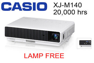 Casio Xj M140 Projector Led Laser 20,000 Hour Home Office Beamer Portable