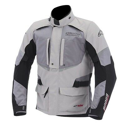 Alpinestars Andes Drystar Motorcycle Motorbike Textile Touring Jacket Grey NEW