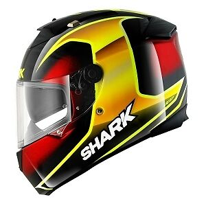 Shark Speed R StarQ Motorcycle Full Face Helmet KYR Black / Red / Yellow NEW