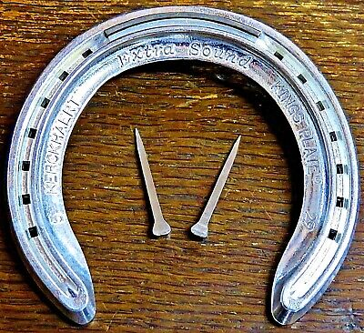 REAL Aluminium Wedding Horseshoe Gift with 2 Horse Shoe nails to fix to door