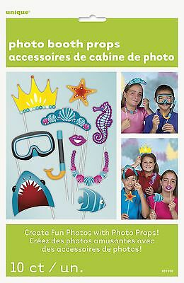 Under the Sea Photo Booth Props Pack of 10 Under the Sea