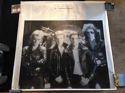 Queen The Game Elektra Huge Original Promo Poster Display Freddie Mercury Glam