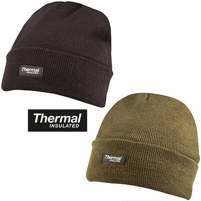 860adcc13 MILITARY BEANIE THERMAL British Army Winter Ski Knitted Watch Hat Black  Green