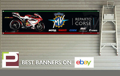 MV Agusta F4RC Reparto Corse logo Banner for Workshop, Garage, Pit Lane, Moto GP