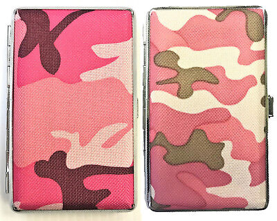 Eclipse Army Camo Crushproof Metal Leatherette Cigarette Case, Kings, 3102CL14