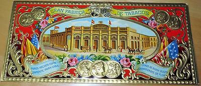 Antique GRAN FABRICA DE TABACOS Gold Embossed Lithograph Print Cigar Box Label