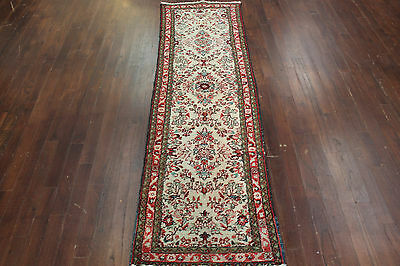 Authentic Hand Made Antique Persian Hamendan Runner 2'4 X 8'3 Fine Wool Rug