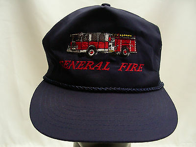 General Fire - Navy Blue - One Size Adjustable Slider Ball Cap Hat!