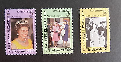 Gambia 1986 Queen's 60th Birthday MNH UM unmounted mint