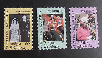 Antigua & Barbuda 1986 Queen's 60th Birthday  UM MNH unmounted mint