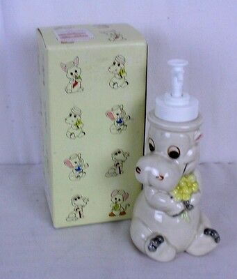 Andre Richard Vtg Hippopotamus Hippo Soap Lotion Dispenser NOS Japan Vtg Ceramic