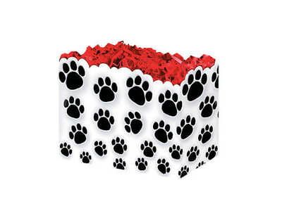 60 Small Paws Black Animal Cat Dog Paw Prints Theme Gift Basket Boxes 6-3/4x5""