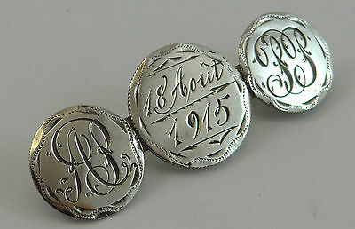 Antique Love Token Silver Brooch Dated 1915