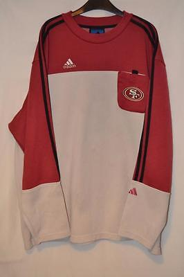 Retro Adidas San Francisco Nfl Amercian Football Sweatshirt Size Xl Mens