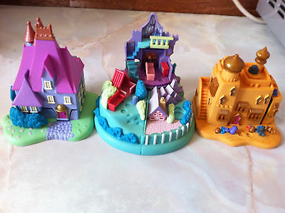 Vintage 1993 Polly Pocket - disney , Stepmothers house, aladin, dalmations,