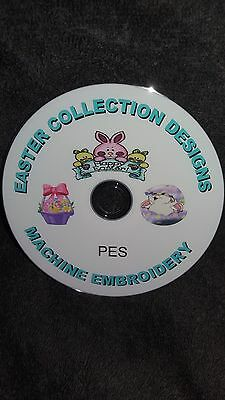 over 300 EASTER pes machine embroidery designs on cd / dvd disc