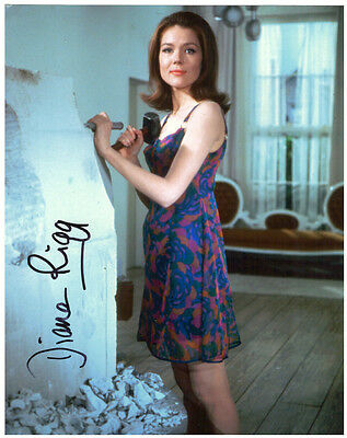 DIANA RIGG Signed 10x8 Photo The Avengers Bond 007 Game Of Thrones Autographed