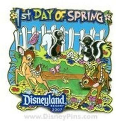 Dlr Bambi & Friends Faline Flower 1St Day Spring 2007 Le 1000 Disney Pin 52879