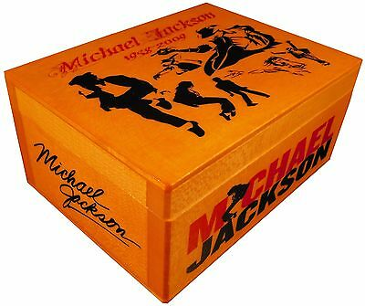 KING OF POP MICHAEL JACKSON figure statue  BOX with SIGNED AUTOGRAPHED, Poster