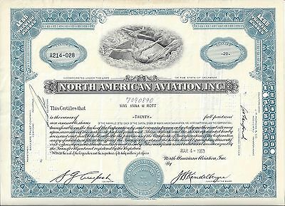 North American Aviation Inc.......1953 Stock Certificate