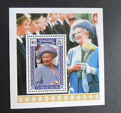 Turks & Caicos 1990 Queen Mother's 90th Birthday MS Miniature sheet MNH UM