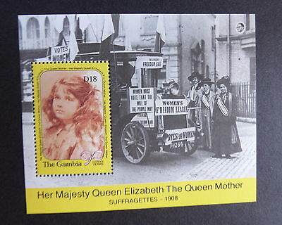 Gambia 1990 Queen Mother 90th Birthday MS miniature sheet UM MNH unmounted mint