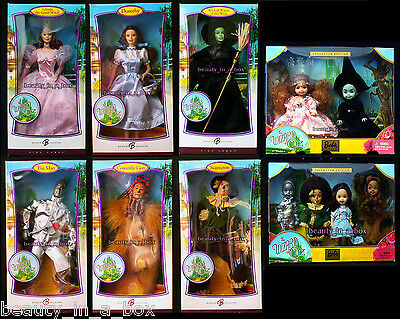 Wizard of Oz Barbie Doll Wicked Witch Dorothy Glinda Pink Label Kelly Lot 12 VG