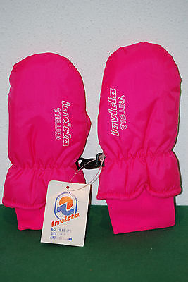 INVICTA fluo vintage muffole guanti NOS gloves ski winter padded muffol thermor